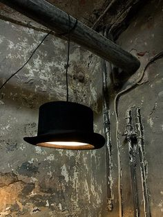 Top hat lamp..I got a pink one that I am about to get together..but mine will be girlie...