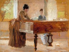 Haikon salongissa, harjoitelma teokseen: Vanha laulu,  1888