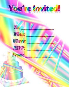 Rainbow Savors Invitation Free Printable Invitations, Unique Invitations, Party Printables, Party Invitations, Free Printables, Sign I, Free Design, Rsvp, Rainbow