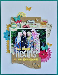 love the layers in this scrapbook layout