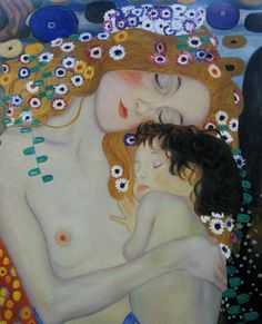 mother and child | artist: gustav klimt