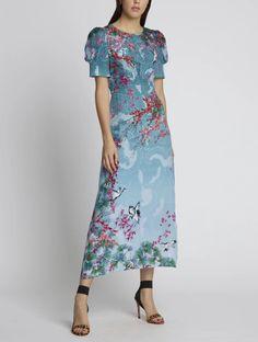 New Arrrivals Spring Summer 2020 - Maison Gassmann Veronica, Iconic Dresses, Party Looks, Silk Crepe, Boho, Portrait, Ankle Length, Smocking, Bodice