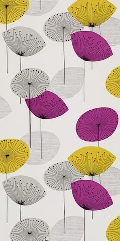 Sanderson 1950s Wallpaper - I have this design on my kitchen blind. Love it!