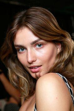 Natural beauty for Diane von Furstenberg Spring 2014 makeup