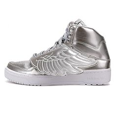 buy online 41c77 7a798 adidas Originals JS WINGS Jeremy Scott METAL Plata Plata mujer Zapatos  S77798 nuevo