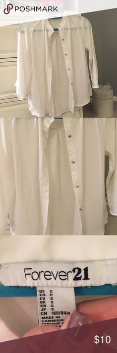 F21 Button down Forever 21 button down. Worn a couple of times in great condition! Forever 21 Tops Button Down Shirts