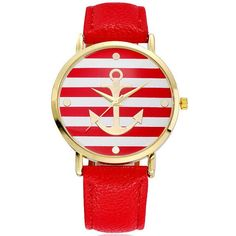 New Design Fashion 2018 Uutuudet Muoti New Anchor Stripes Design Miesten katsella rento nahkaa Naisten Watch