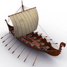 Model of a Viking Longboat Viking Life, Viking Warrior, Vikings, Viking Longboat, Viking Longship, Viking Culture, Viking Ship, Wooden Ship, Norse Mythology