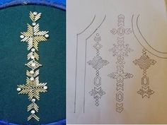 hand embroidery with beads Zardozi Embroidery, Hand Embroidery Dress, Kurti Embroidery Design, Tambour Embroidery, Bead Embroidery Jewelry, Embroidery Fashion, Hand Embroidery Designs, Fabric Jewelry, Ribbon Embroidery