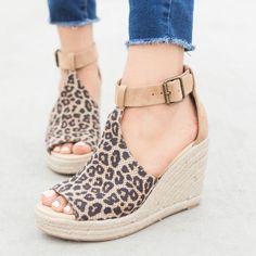 05ae115ede8 Women Chic Espadrille Wedges Adjustable Buckle Sandals