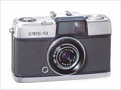 The first-generation (1959) Olympus Pen camera