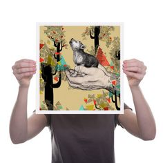 So Cute...    Found You there Art Print, £21.50, now featured on Fab.