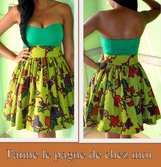 la jupe it's so cute African Attire, African Wear, African Dress, African Outfits, African Style, African Shop, African Clothes, African Print Fashion, Fashion Prints