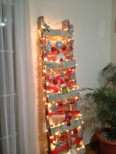 Christmas ladder instead of a tree.