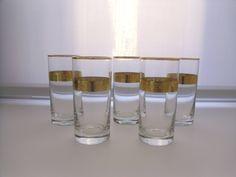 Bicchieri decorati oro / Bicchieri alti / Bicchieri per acqua / Bicchieri per bevande
