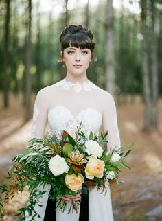 Emerald Green and Gold Holiday Wedding Bride