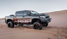 Take a look at the Dune Ripping Toyota Tundra with RBP Wheels photos and go back to customizing your vehicle with renewed passion. Toyota 4x4, Toyota Trucks, Toyota Tundra, Tundra Truck, Dune, Wheels, Cars, Sports, Ideas