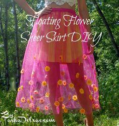 Floating Flower Sheer Skirt DIY