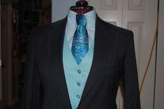 R.J. Becht Steel Gray Saddleseat Suit w/ 2 sets vest/shirt/tie size 8-10 long