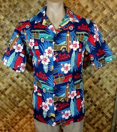 NWOT - OUTRIGGER EXPEDITION mens HAWAIIAN OUTRIGGER BIG KAHUNA Print Shirt - L #OutriggerExpeditionGear #Hawaiian