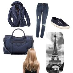Rainy day in Paris by geriksen on Polyvore featuring polyvore, fashion, style, River Island, Superga and Balenciaga