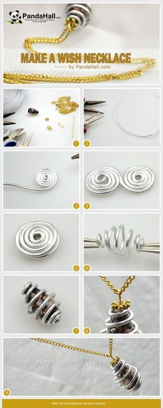 How to make a wish necklace? How to finish it with mere three easy steps? How to ensure it can be suitable for all daily outfits? Here, by using one drop foil Glass Bead, a 20cm long Aluminum wire and a strand of chain, you can make a wish necklace easily by yourself.
