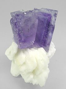 Fluorite crystals with Barite / Mineral Friends <3
