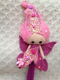 Pink winter fairy