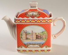 James Sadler Novelty Teapots featuring castles and cottages. Teapots And Cups, Teacups, Coffee Set, Coffee Time, Tea Cozy, Tea Art, Ceramic Teapots, Chocolate Pots, Tea Accessories