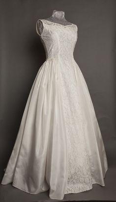 Original vintage 1950s lace wedding dress by Emma Domb, c Heavenly Vintage Brides