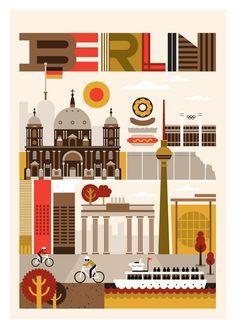 Berlin Travel Guide. Illustration by Fernando Volken-Togni.