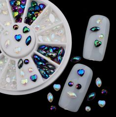 Find More Rhinestones & Decorations Information about 1Box 200 pcs Nail Art Tips Crystal Glitter Rhinestone 3D Nail Art Decoration+Wheel Manicure Tools,High Quality glitter rhinestone,China rhinestone 3d Suppliers, Cheap 3d nail art decoration from Cala Beauty Factory  on Aliexpress.com