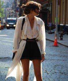 Fancy - Black & White Romper