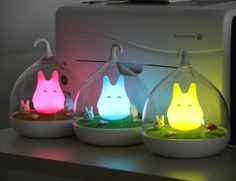 Ohlees® Children's Night Lights Hand-held Design Touch Sensor Vibration Birdcage Lamp Totoro Night Lights Charging for Kids, Baby ,Valentines Gift,Outdoor Lamp (Red): Amazon.co.uk: Kitchen & Home