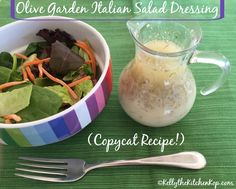 Copycat Olive Garden Italian Salad Dressing without GMOs, HFCS, or preservatives!