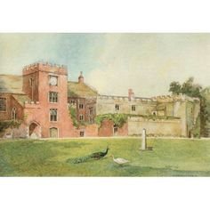 Greater Abbeys of England 1908 Torre Abbey Canvas Art - Warwick Goble x Warwick Goble, Historic Homes, Fairy Tales, Medieval, Canvas Art, England, Illustration, Artworks, Walmart