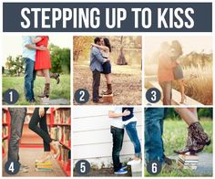 FUN Posing   Stepping up to the kiss :)  #engagement #fun #posing #photography #easyposing #engagementposing #modernposing