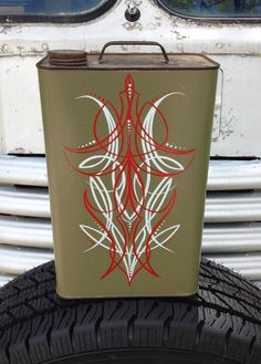 ON SALE Old Pinstriped Gas Can Rat Rod by slipslopslap on Etsy