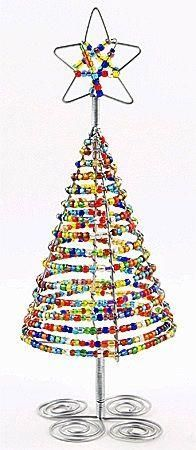 Beaded table top Christmas tree