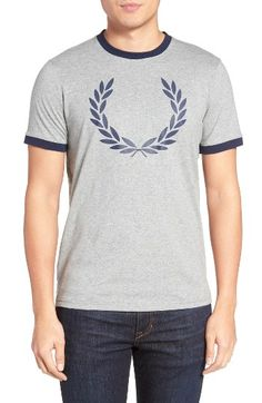 Free shipping and returns on Fred Perry Laurel Wreath Ringer T-Shirt at Nordstrom.com. Fred Perry's iconic laurel wreath logo is printed on the front of a classic crewneck T-shirt with contrast ribbing at the neck and cuffs.