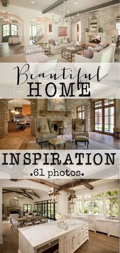 Beautiful Home Inspiration:  Beautiful homes with tons of inspirational pictures.