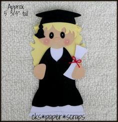 Graduation Girl Scrapbook Embellishment Paper Piecing