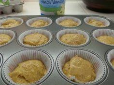 Fall Muffin Recipe : Happy Baby and Stonyfield Vanilla Yogurt