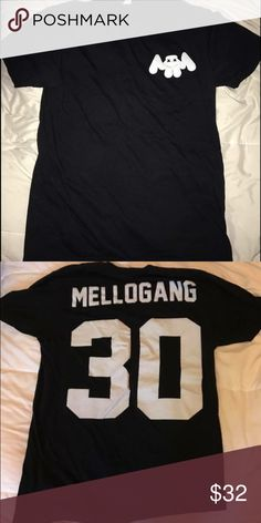 MARSHMELLO T SHIRT amazing and super soft black marshmello tee! size medium! #mellogang not nasty gal only tagged for visibility! this is from the official marshmello merchandise page! Nasty Gal Tops Tees - Short Sleeve
