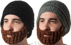 Visto aquí: http://laughingsquid.com/beardo-beard-hat-a-knitted-beanie-with-detachable-foldaway-beard/