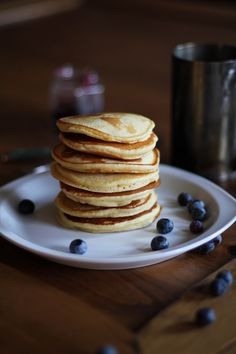 Gluten free yogurt pancakes | http://www.theroastedroot.net #glutenfree