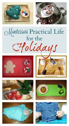A wonderful collection of practical life for the holidays activities on ChristianMontessoriNetwork.com! One of several amazing post in the 15 Days of Montessori for the Holidays blog hop posts.