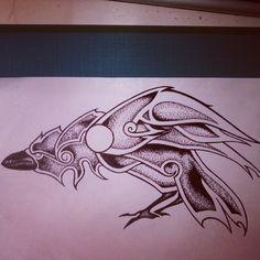Nordic raven #nordictattoo #nordicdesign #nordic #norse #norsedesign…