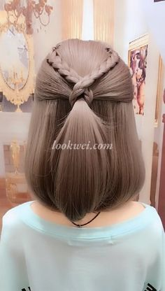 Most people think of thick hair as luxurious. Thin, fine hair is often seen as limp and unable to hold any particular style. Natural Hair Styles, Short Hair Styles, Box Braids Hairstyles, Hairstyle Braid, Hairstyle Short, Black Hairstyle, Amazing Hairstyles, Short Ponytail, Hairstyles Videos