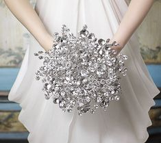 The Duo Mirrored Bridal Bouquet - Wedding Bouquet -  Sparkling NYE Wedding, New Year's Eve, Summer, Autumn, Winter, Spring